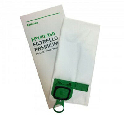 6 Sacchetti In Microfibra Super Filtrello Originali Vorwerk Folletto Vk140 Vk150