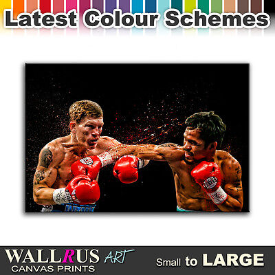 Manny Pacquiao Ricky Hatton Canvas Print Framed Photo Picture Wall Artwork WA