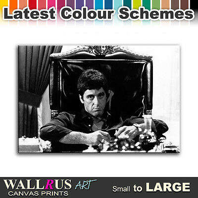 Scarface Al Pacino Movie Icon Canvas Print Framed Photo Picture Wall Artwork WA