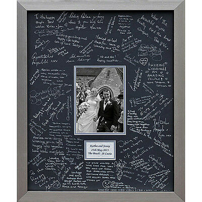 Personalised Luxury Wedding Guest Book Signing Frame - Double Mounted