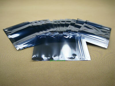 """250 ESD Anti-Static Shielding ZIP LOCK Bags 2.8"""" x 4""""_70 x 100mm_USABLE SIZE"""