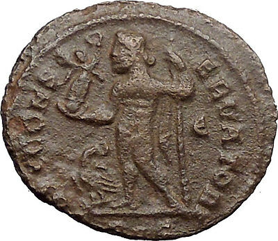 Licinius I Constantine I enemy 313AD Ancient Roman Coin Nude Jupiter i30882