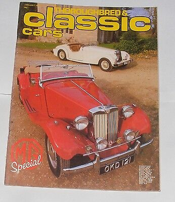 Thoroughbred & Classic Cars January 1981 - Mg Special