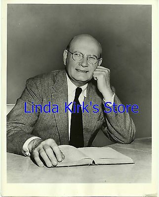 "Dr. Frank Baxter Promotional Photograph ""Telephone Time"" Dramas ABC-TV 1957"