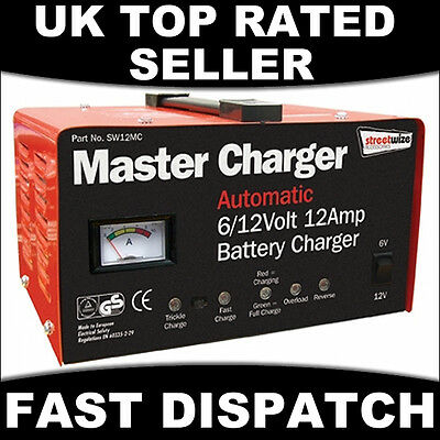 Automatic Intelligent Battery Charger 6 & 12 Volt 12 Amp Trickle Fast 6/12V Car