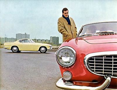 1962 Volvo P1800 Automobile Photo Poster zua4605-HAS2IS