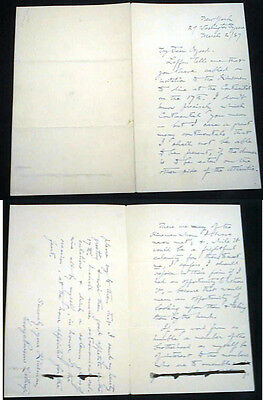 1887 Letter Signed G P Lathrop To Publisher James Osgood Hawthorne Son-In-Law
