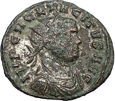 TACITUS 275AD  Silvered  Ancient Genuine Roman Coin VICTORY ANGEL Nike i21303