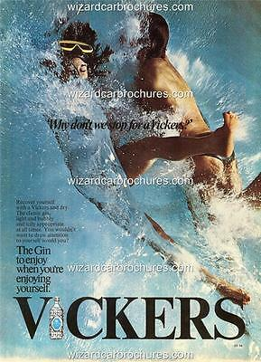 """1974 Vickers Gin Australia A3 Poster Ad Advert Advertisement """"Why Don't We Stop"""""""