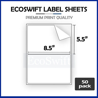 (100) 8.5 x 5.5 XL Premium Shipping Half-Sheet Self-Adhesive eBay PayPal Labels