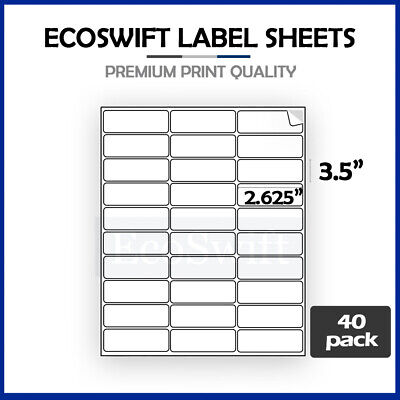 (1200) 2.625 x 1 Laser Address Shipping Adhesive Labels 30 per sheet 1 x 2 5/8