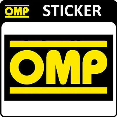 OMP RACING STICKER DECAL 78x46mm SMALL - OFFICIAL OMP MOTORSPORT STICKER!
