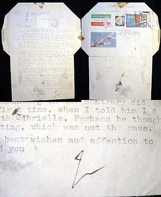 1982 Bruno Zevi Typed Letter Signed Good Content Italy Literature