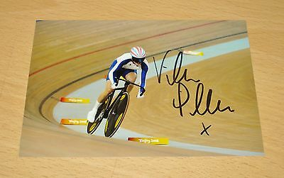 VICTORIA PENDLETON GENUINE HAND SIGNED AUTOGRAPH 6x4 PHOTO CYCLING GOLD 08 + COA