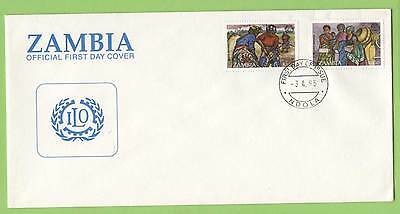 Zambia 1995 I.L.O. set on  First Day Cover