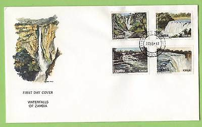 Zambia 1993 Waterfalls set on four on First Day Cover