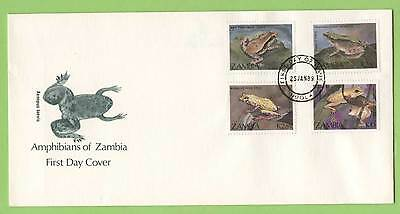 Zambia 1989 Amphibians set on First Day Cover