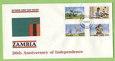 Zambia 1990 20th Anniversary of Independence set First Day Cover