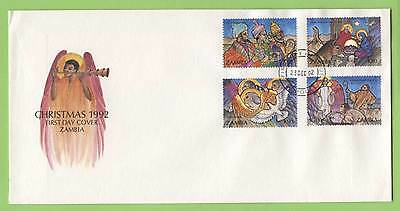Zambia 1992 Christmas set on First Day Cover