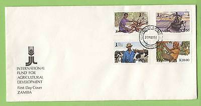 Zambia 1988 Agricultural Fund set on First Day Cover