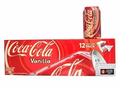 Vanilla Coke Soda 12 pack Of Cans