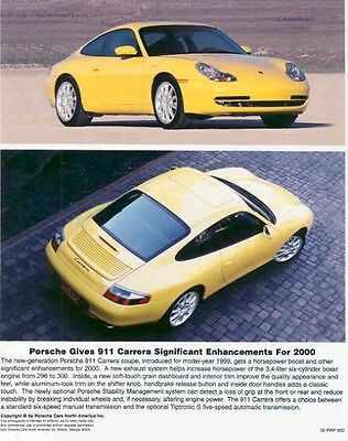 2000 Porsche 911 Carrera ORIGINAL Factory Photo aa2967-Q9Q4X6