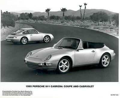 1995 Porsche 911 Carrera Cabriolet ORIGINAL Factory Photo aa3279-539ICM