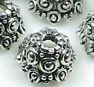 8 Silver Pewter Knot Caps 11x6mm Beads ~ Lead-Free ~