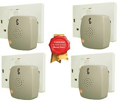 4 X Pestbye Plug In Mouse Repeller Pest Insect Ant Control Ultrasonic Repellent