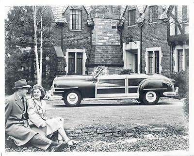 1946 Chrysler Town & Country Convertible Factory Photo aa5752-UU6C3R