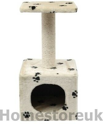 Cat Kitten Pet Scratcher & Play Box House Post Sisal Rope For Scratching 30740
