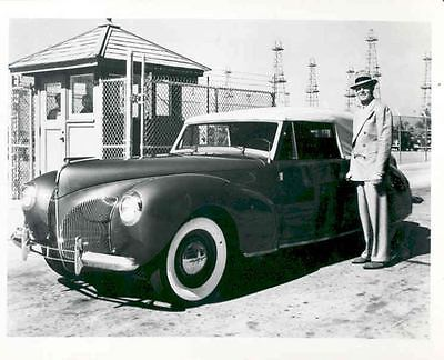 1940 Lincoln Continental Cabriolet Factory Photo Randolph Scott aa6588-DETBO6