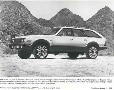 1981 AMC Eagle Station Wagon ORIGINAL Factory Photo aa950-FIS2P9