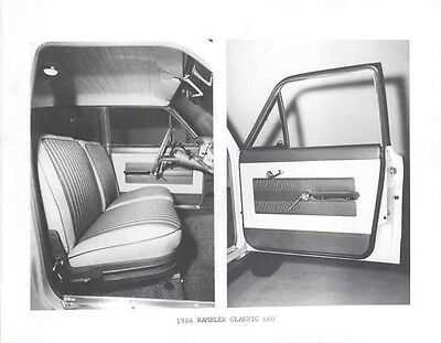 1964 AMC Rambler Classic 660 Interior ORIGINAL Factory Photo ab9843-AD8N9R