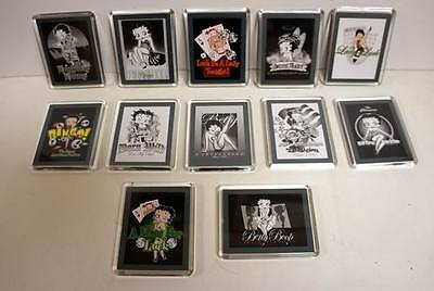 Lot of 12 Pieces - Assorted Betty Boop Magnets + FREE SHIPPING!