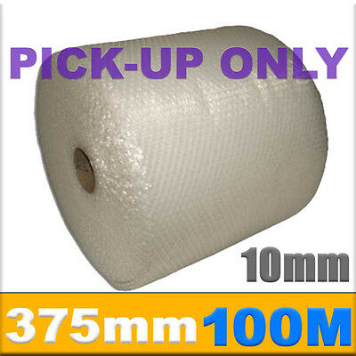 PICK UP ONLY! 375mm x 100M Meter Bubble Wrap Roll 10mm Bubblewrap Perforated