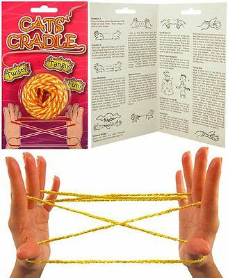 Classic Cat's Cradle Children's Vintage Rope Toy w/ Instructions Included