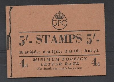 GVI - 1952. B20(1) 5s booklet. March 1952. Fine and complete.