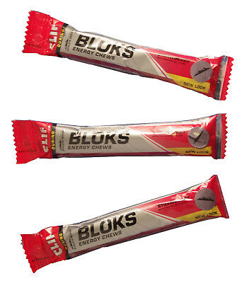 Clif Shot Bloks Chews x 3 packets 6 blocks per pack 5 flavours to choose from