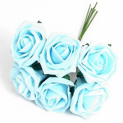 Light Blue Champion Roses Wedding~Engagement~Celebration~Bouquet~buttonhole