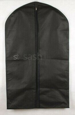 Set 5/10 Of Black Peva Garment Suit Covers Clothes Dress Bag Protector Zip Up
