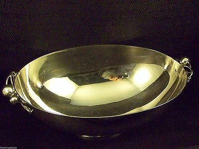 BERRY BLOSSOM PATTERN FOOTED CENTERPIECE BOWL MID CENTURY aka GEORG JENSEN STYLE