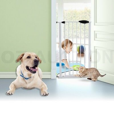 65-72cm Extendable Metal Toddler Cat Dog Pet Door Stair Barrier Safety Gate