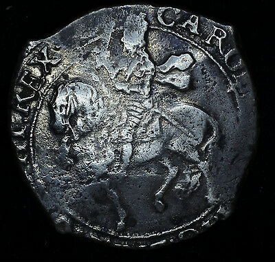 Great Britain 1/2 Crown (1636-8)ND, F/VF silver, S#2779, Charles I.
