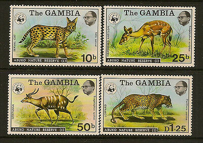 GAMBIA :1976 Nature Reserve series 1 ( World Wildlife Fund) SG 356-9 unmounted