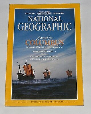 National Geographic Magazine January 1992 - Columbus/la Isabela/skeleton Coast