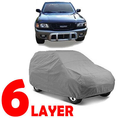 TRUE 6 LAYERS GRAY FITTED SUV COVER INDOOR/OUTDOOR WATER PROOF for ISUZU AMIGO