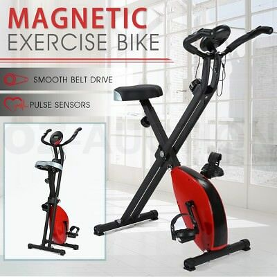 Folding Exercise Upright Bike Home GYM Sport Magnetic Bicycle Cycling Training
