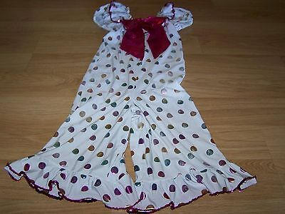 Child Size Medium Costume Gallery Polka Dot Clown Dance Outfit Metallic Preowned