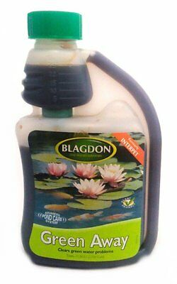 Blagdon Green Away 500ml clears pond algae Interpet